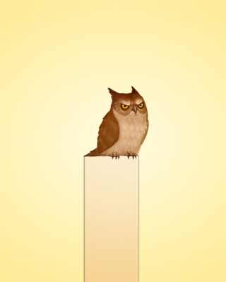 Owl Illustration - Obrázkek zdarma pro iPhone 5C