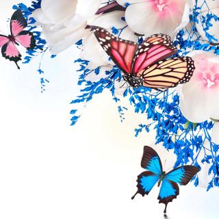 Spring  blossom and butterflies - Obrázkek zdarma pro iPad 3