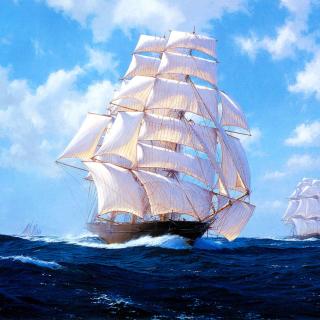 Ships Artwork Steven Dews - Obrázkek zdarma pro iPad Air