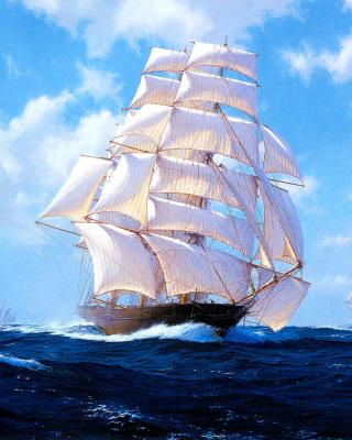 Ships Artwork Steven Dews - Obrázkek zdarma pro 360x400