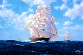 Ships Artwork Steven Dews Background for Android, iPhone and iPad