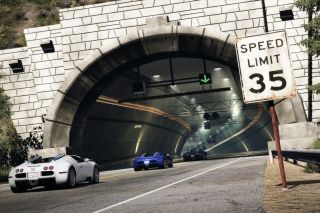 Free Tunnel Race Cars Picture for Android, iPhone and iPad