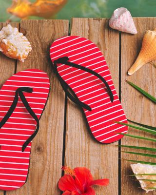 Flip Flops and Seashells - Obrázkek zdarma pro 240x400