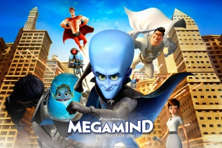 Megamind: Bad Blue Brilliant Wallpaper for Android, iPhone and iPad