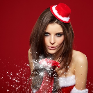 Snow Maiden Christmas Girl - Obrázkek zdarma pro 1024x1024