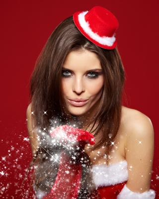 Snow Maiden Christmas Girl - Obrázkek zdarma pro iPhone 5