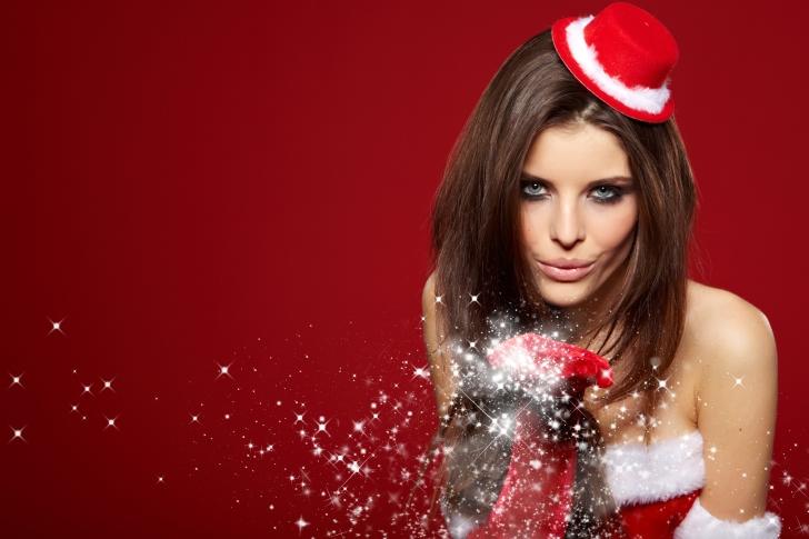 Snow Maiden Christmas Girl wallpaper
