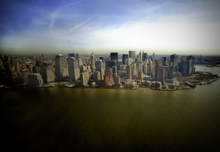 New York Aerial View Background for Android, iPhone and iPad