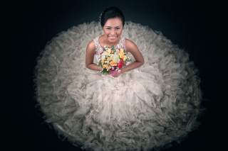 Happy Bride Picture for Android, iPhone and iPad
