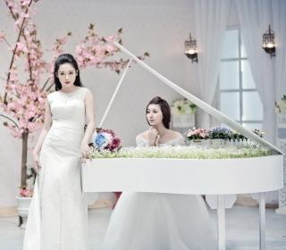 Asian Pianists - Obrázkek zdarma pro iPad 2