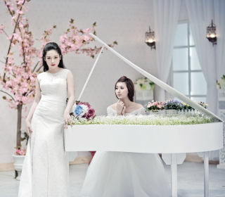 Asian Pianists - Obrázkek zdarma pro iPad Air