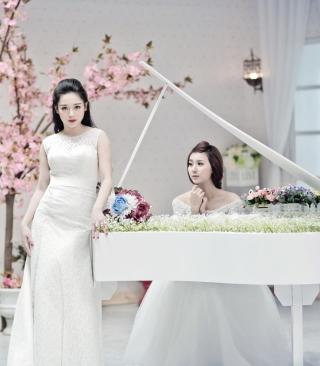 Asian Pianists - Obrázkek zdarma pro Nokia Asha 308