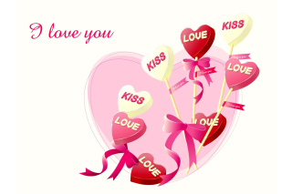 Free I Love You Balloons and Hearts Picture for Nokia Asha 200