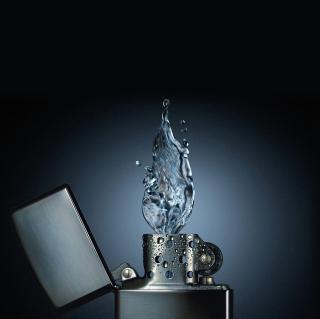 Zippo Water Fire - Obrázkek zdarma pro iPad