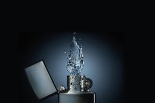 Zippo Water Fire - Obrázkek zdarma pro Android 480x800
